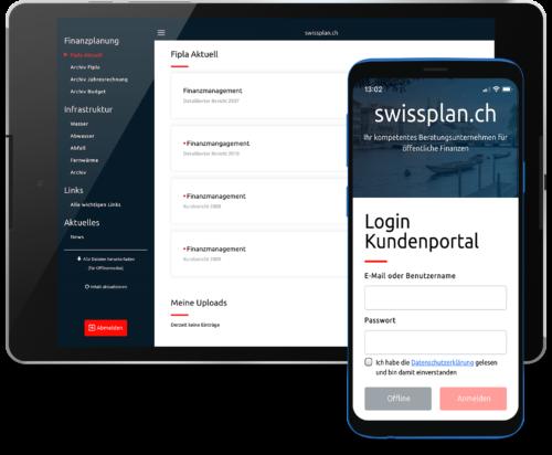 Neue App für swissplan.ch Kundenportal
